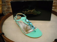 Theme Diane Gilman Green Jeweled Thong Sandal NEW