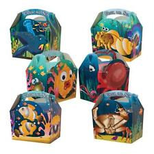 Childrens Kids Under The Sea Birthday Party Box Bag Loot Favour Carry Boxes Food