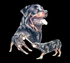 BEAUTIFUL ROTTWEILER DOG & ROTTWEILERS PLAYING SHOW ART T-SHIRT 726