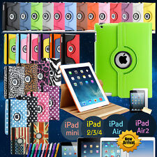 360 Rotating PU Leather Case Cover Stand for APPLE iPad 4 3 2 iPad Mini iPad Air