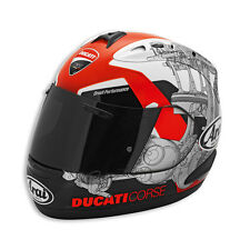 "DUCATI CORSE '14 ARAI CORSAIR V ""RX-GP"" HELMET DOT SNELL AUTHENTIC IN STOCK"