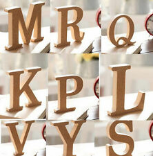 10X1.5cm(thick) Wood Wooden Letters Alphabet DIY Bridal Wedding Party Home Decor