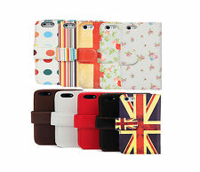 Retro Flip Leather Wallet Credit Card Case Cover for Apple iPhone 5 & 5S