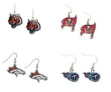 NFL TEAM LOGO CHARM DANGLE EARRINGS  *PICK YOUR TEAM* LICENSED GIFT NEW