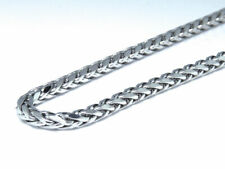 New Real 10k White Gold Cable Hollow Wheat Chain Necklace 3.0 mm 30 36 40 Inch
