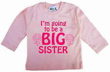 Dirty Fingers Baby Girl Long Sleeve Top Tee T-Shirt I'm going to be Big Sister