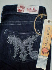 Mek Denim Cypress Slim Fit Boot Womens Blue Denim Jeans Size 27 x 34 New $135