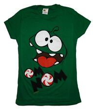 Cut The Rope Om Nom Face Mobile Video Game Juniors Babydoll T-Shirt Tee