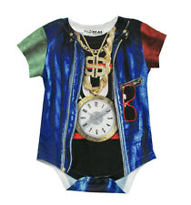 Faux Real Old School Rapper Baby Costume Creeper Romper Snapsuit