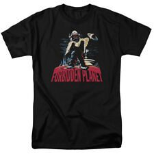 Forbidden Planet Robby The Robot Title Sci Fi Movie T-Shirt Tee