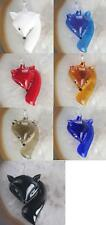 7 Colors Glass Lampwork Fox  Pendant