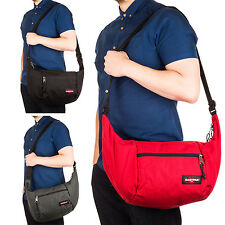 Eastpak Hobbs Shoulder Bag Gym Sports Bag in Red/ Black/ Charcoal
