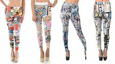 NEW COMICS FASHION ICONS SUBLIMATION PRINTED FULL HIGH WAIST PANTS LEGGINGS