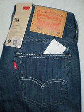 Levis 514 Mid Slim Fit Straight Jeans Mens Size 32X29, 36X32.5, 40X32 New $64