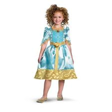 Girls Child Disney Pixar Brave Movie Merida Green Princess Dress Costume Outfit