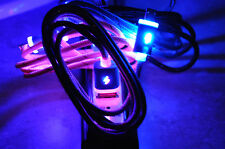 FLASH BRAID LED light-up data sync charger charge cable el micro usb iphone 4 5
