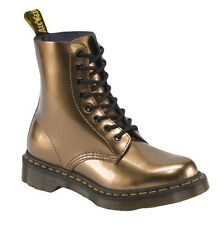 Dr. Martens Women's Pascal 8-Eye Lace Up Leather Ankle Boots Copper Spectra