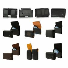 Premium Belt Clip Pouch Case Leather Holster for Cell Phones