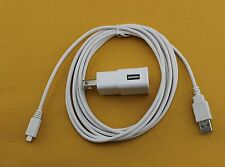 10 Ft Micro USB Cable + OEM Samsung 2A Rapid Home Wall Battery Adapter Charger