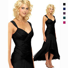 Stylish Floating High-Low Formal Cocktail Evening Party Bridesmaid Dress co6021