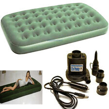 Double/Single Green AirBed With Electric AirPump Air Bed Mattress Pump Inflator