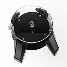 Solar Powered LED Light Jewelry Rotating Phone Watch Display Stand Turn Table
