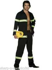 Adult Mens Sexy Fireman Firefighter Emergency Service Fancy Dress Costume Outfit