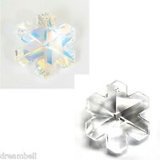 Swarovski Elements 6704 Snowflake Crystal Charm Pendant (Many Sizes & Colors)