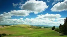 Green field Clouds sky Wall Art Home Decor Unique New LIGHT SWITCH PLATE COVER