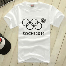 New Sochi Winter Olympics Men's T-shirt Printing Tetracyclic Casual Menswear F