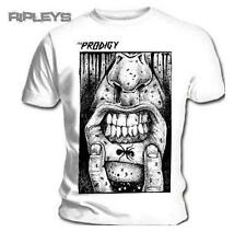 Official White T Shirt THE PRODIGY Punk Ant LIP TAT Tattoo All Sizes