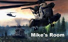 Army Helicopter unique kids room poster print PERSONALIZED FREE email us names