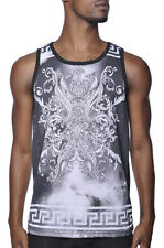 Kayden K Greek Crest Space Galaxy Tribal Plant Design Sublimated Tank Top Shirt