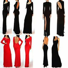 Elegant Sexy Backless Mermaid Bodycon Long Maxi Dress Party Cocktail Prom Dress