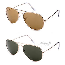 New Classic Aviators 62MM Lens Pilot Top Gun Inspired Men Women Brown Green
