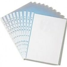A4 Clear Plastic Punched Pockets Folders Filing Wallets Sleeves