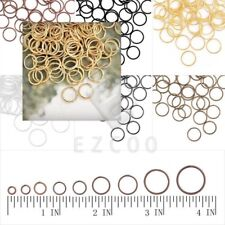 Hot 30g Iron Round Open Jump Rings Connectors Findings 3/4/5/6/7/8/9/10/12/14mm