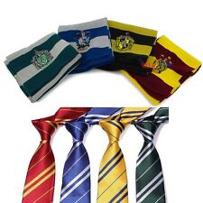 Harry Potter Gryffindor/Slytherin/Ravenclaw/Hufflepuff Costume Scarf Tie Gift