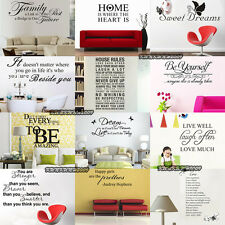 DIY Removable Letters Quote Vinyl Decal Wall Stickers Art Mural Home Decor Hot