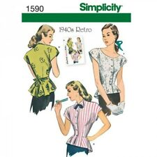 Misses' Retro Blouse Fabric Sewing Patterns 1590