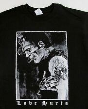 FRANKENSTEIN T-shirt LOVE HURTS Rockabilly Psychobilly Tee Adult Mens S-2XL New