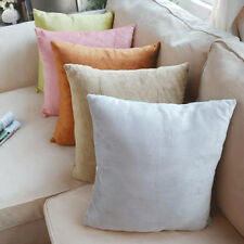 Hot Short Plush Decorative Pillows Sofa Cushion Cover in Five Pure Color Sets