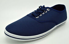 Slazenger Canvas Trainers Pumps Navy Blue Shoes Size Adult Size 9.5-13.5