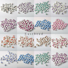 20pcs 10mm Flower Design Craft Ceramic Porcelain Round Loose Spacer Bead Charms