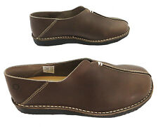 Oxygen Essen Women's Brown Slip On Flat Stitched Leather Loafers New