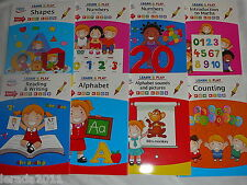 KID'S LEARN & PLAY BOOK AGE 3 - 7 NUMBERS,ALPHABET,READING,WRITING,SHAPES MATHS