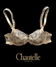 Chantelle Africa Phyton Beige Underwired 3691/XR Mesh Bra - Made in France