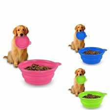 Silicone Collapsible Pet Dog Cat Puppy Feeding Bowl Food Water Travel Outdoor