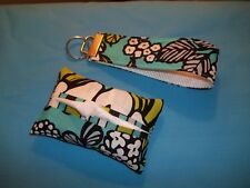 Handmade TISSUE HOLDER / COVER made with Vera Bradley napkin fabric for in purse