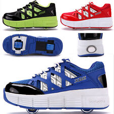 New Boy's Girl's Youths Fashion Skate Sport Sneakers Wheel Roller Shoes/ Sandals